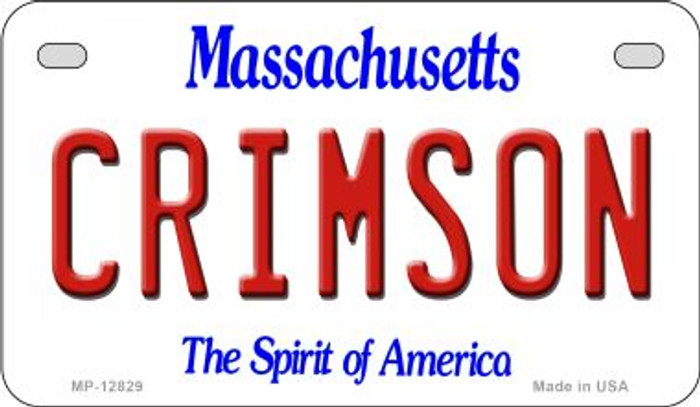 Crimson Novelty Metal Motorcycle Plate MP-12829
