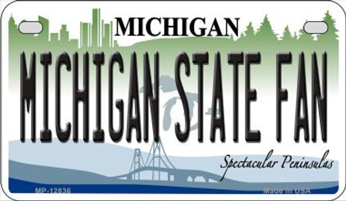 Michigan State Fan Novelty Metal Motorcycle Plate MP-12836