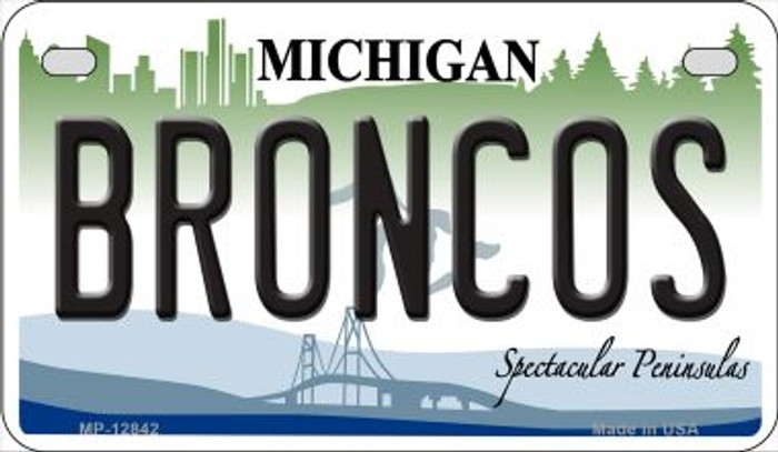 Broncos Novelty Metal Motorcycle Plate MP-12842
