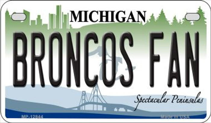 Broncos Fan Novelty Metal Motorcycle Plate MP-12844