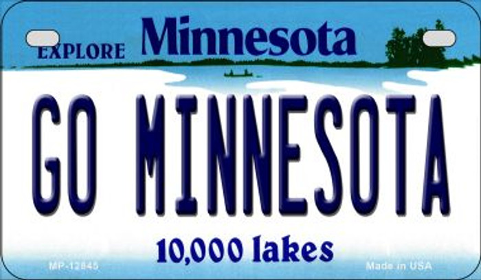 Go Minnesota Novelty Metal Motorcycle Plate MP-12845