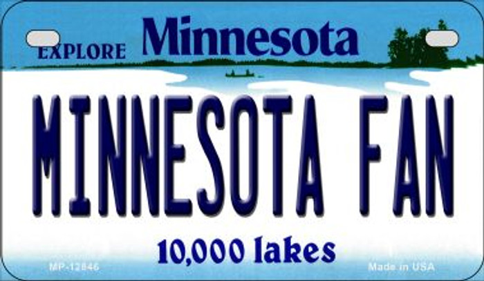 Minnesota Fan Novelty Metal Motorcycle Plate MP-12846