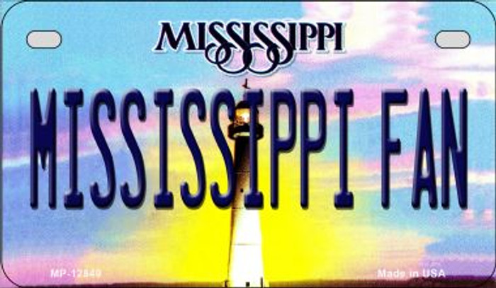 Mississippi Fan Novelty Metal Motorcycle Plate MP-12849