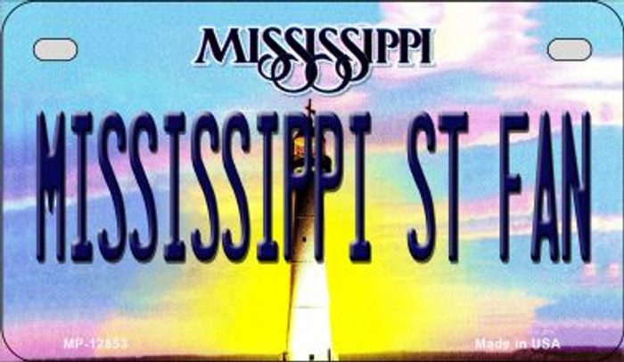 Mississippi State Fan Novelty Metal Motorcycle Plate MP-12853