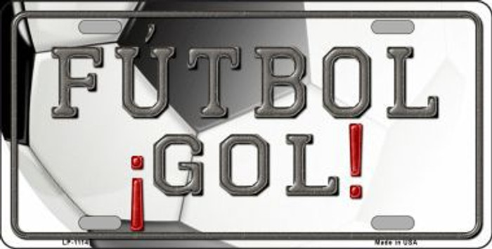 Futbol Gol Novelty Metal License Plate