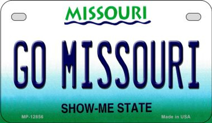 Go Missouri Novelty Metal Motorcycle Plate MP-12856