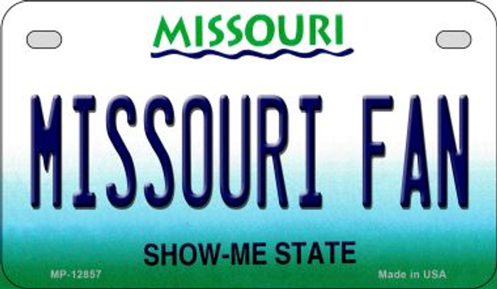 Missouri Fan Novelty Metal Motorcycle Plate MP-12857