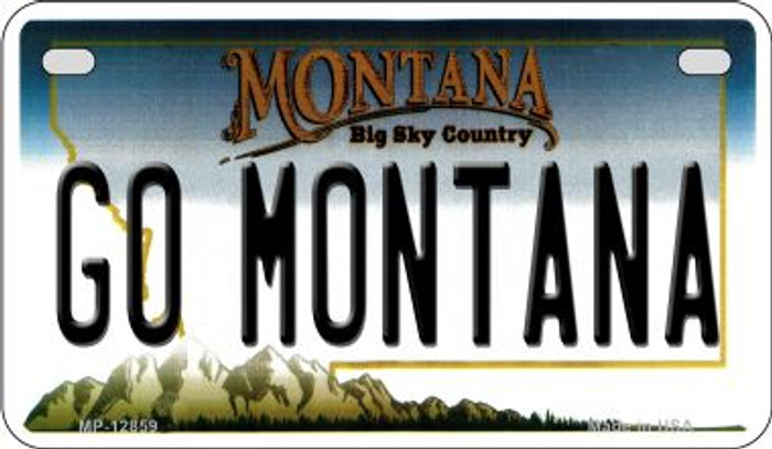 Go Montana Novelty Metal Motorcycle Plate MP-12859