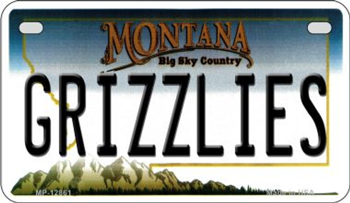 Grizzlies Novelty Metal Motorcycle Plate MP-12861