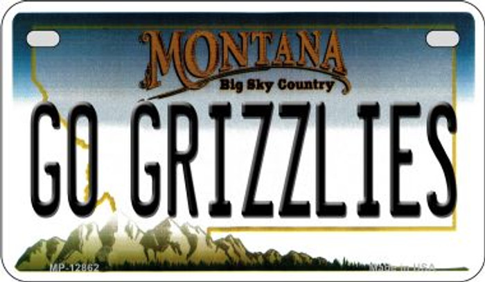 Go Grizzlies Novelty Metal Motorcycle Plate MP-12862