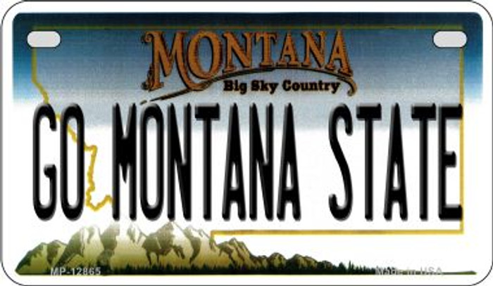 Go Montana State Novelty Metal Motorcycle Plate MP-12865