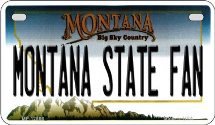 Montana State Fan Novelty Metal Motorcycle Plate MP-12866