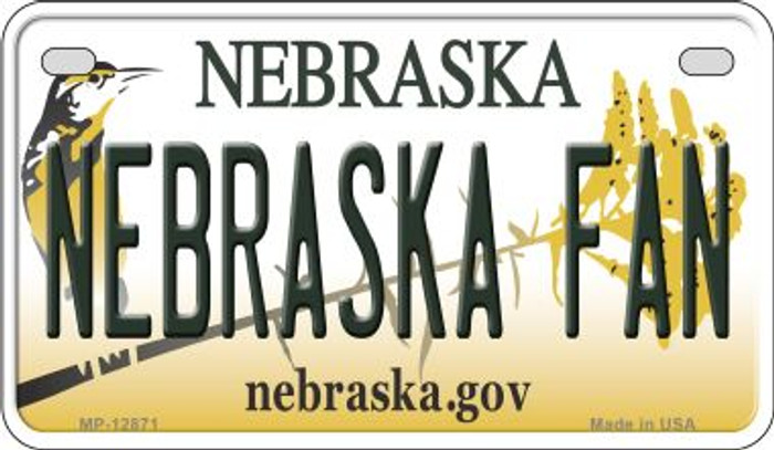 Nebraska Fan Novelty Metal Motorcycle Plate MP-12871
