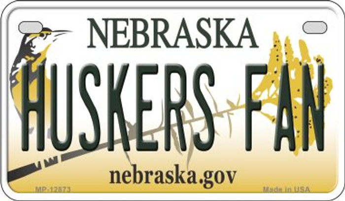 Huskers Fan Novelty Metal Motorcycle Plate MP-12873