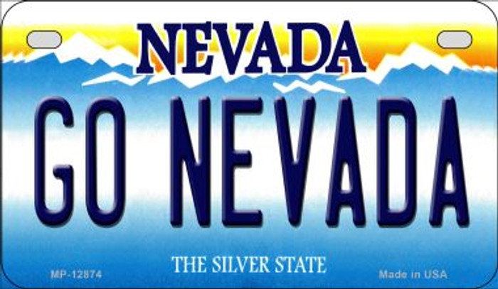 Go Nevada Novelty Metal Motorcycle Plate MP-12874