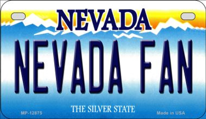 Nevada Fan Novelty Metal Motorcycle Plate MP-12875
