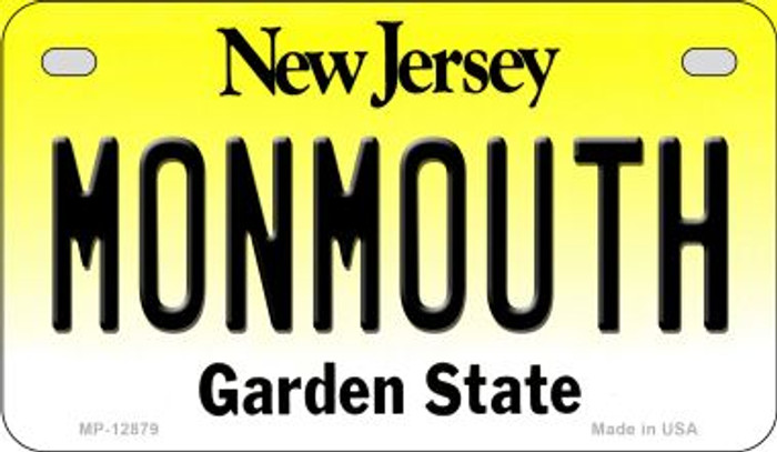 Monmouth Novelty Metal Motorcycle Plate MP-12879