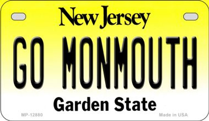 Go Monmouth Novelty Metal Motorcycle Plate MP-12880