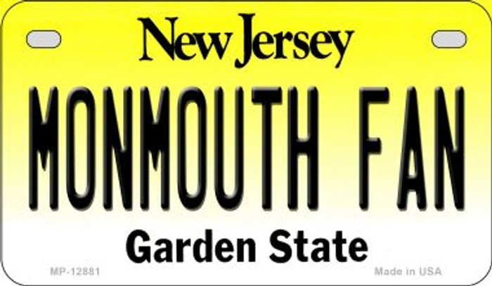 Monmouth Fan Novelty Metal Motorcycle Plate MP-12881