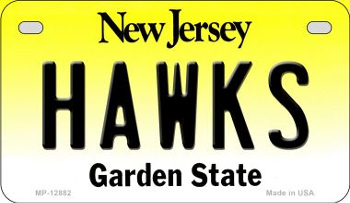 Hawks Novelty Metal Motorcycle Plate MP-12882