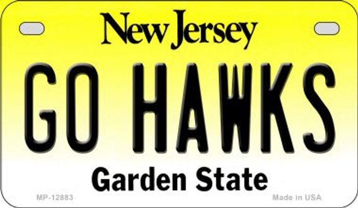 Go Hawks Novelty Metal Motorcycle Plate MP-12883