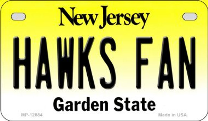 Hawks Fan Novelty Metal Motorcycle Plate MP-12884