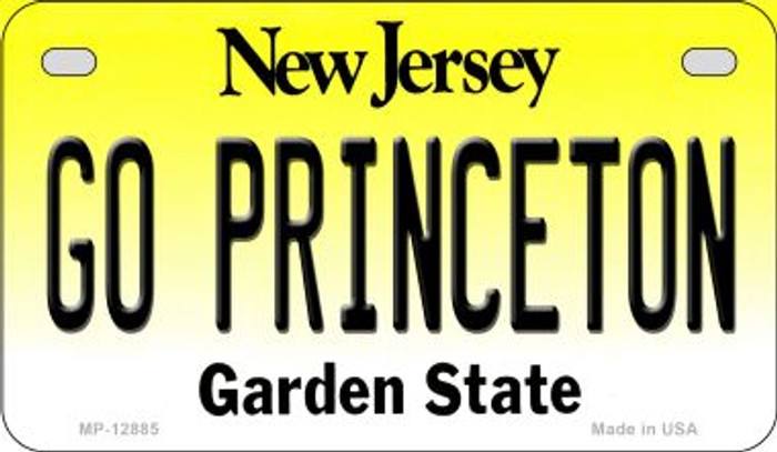 Go Princeton Novelty Metal Motorcycle Plate MP-12885
