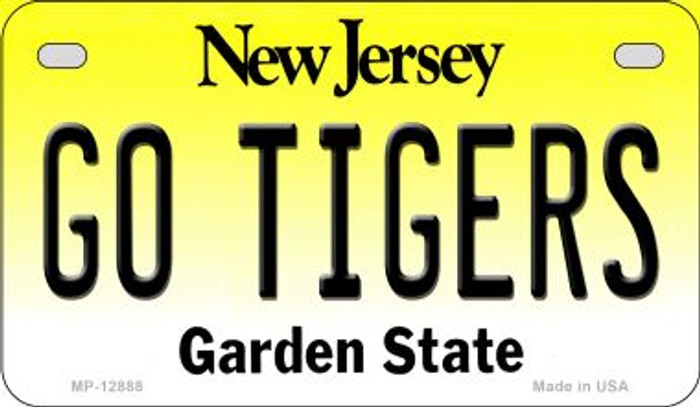 Go Tigers Novelty Metal Motorcycle Plate MP-12888