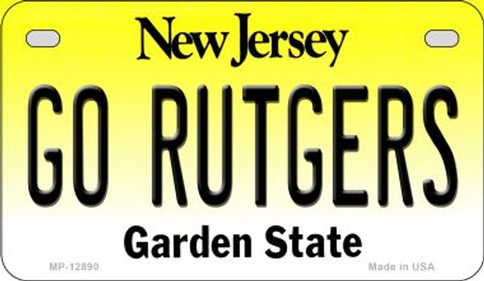 Go Rutgers Novelty Metal Motorcycle Plate MP-12890