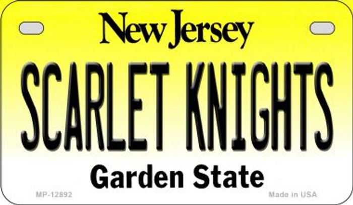 Scarlet Knights Novelty Metal Motorcycle Plate MP-12892