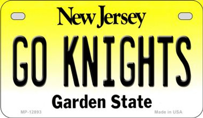 Go Knights Novelty Metal Motorcycle Plate MP-12893
