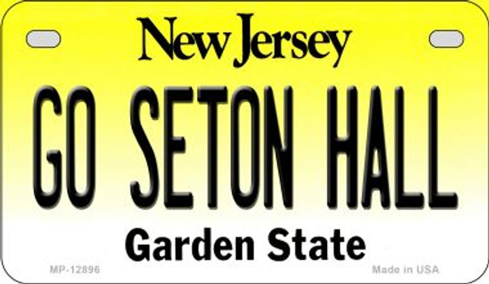 Go Seton Hall Novelty Metal Motorcycle Plate MP-12896