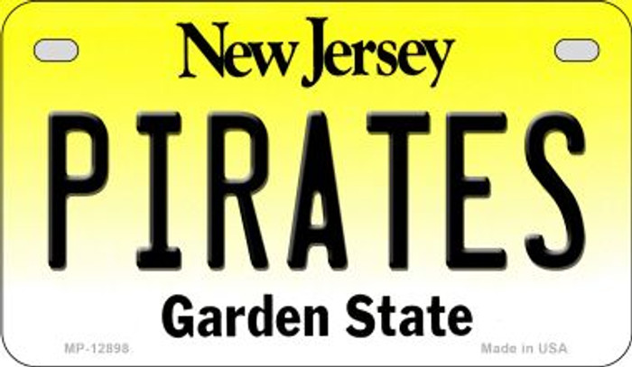 Pirates Novelty Metal Motorcycle Plate MP-12898