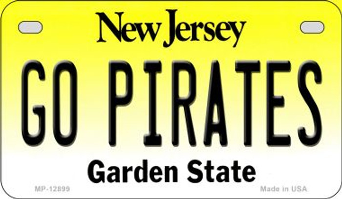 Go Pirates Novelty Metal Motorcycle Plate MP-12899