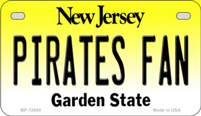 Pirates Fan Novelty Metal Motorcycle Plate MP-12900
