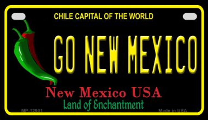 Go New Mexico Novelty Metal Motorcycle Plate MP-12901