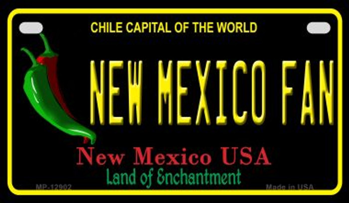New Mexico Fan Novelty Metal Motorcycle Plate MP-12902