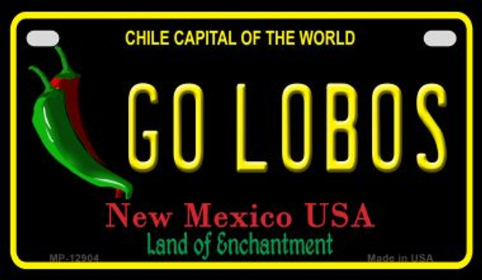 Go Lobos Novelty Metal Motorcycle Plate MP-12904