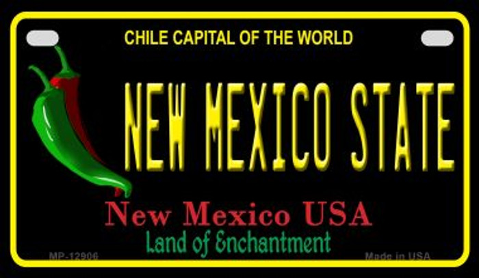 New Mexico State Novelty Metal Motorcycle Plate MP-12906