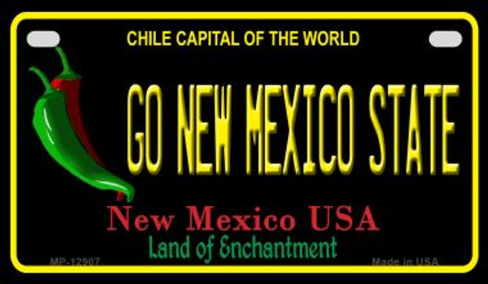 Go New Mexico State Novelty Metal Motorcycle Plate MP-12907