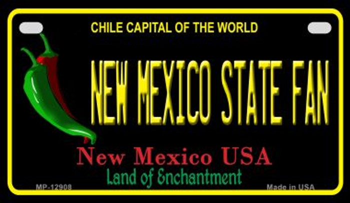 New Mexico State Fan Novelty Metal Motorcycle Plate MP-12908