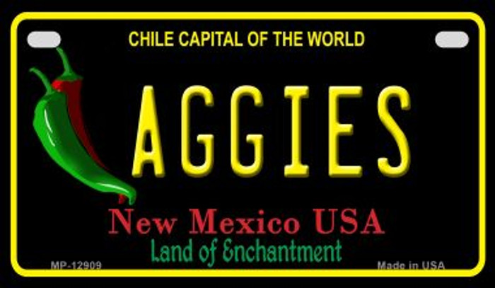 Aggies Novelty Metal Motorcycle Plate MP-12909