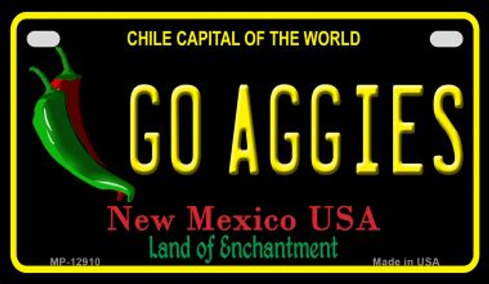 Go Aggies Novelty Metal Motorcycle Plate MP-12910