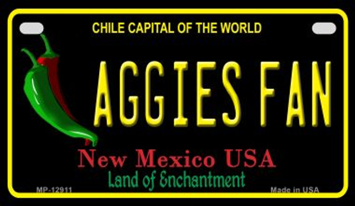 Aggies Fan Novelty Metal Motorcycle Plate MP-12911