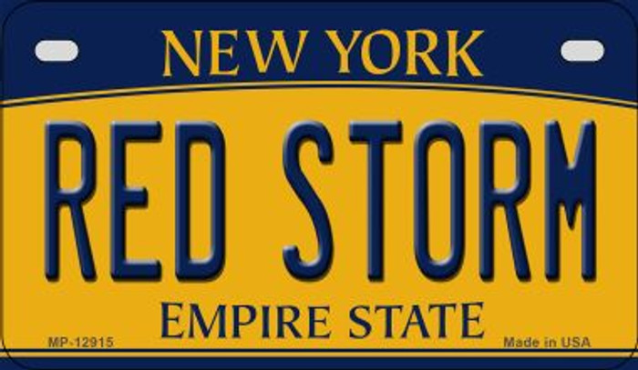 Red Storm Novelty Metal Motorcycle Plate MP-12915