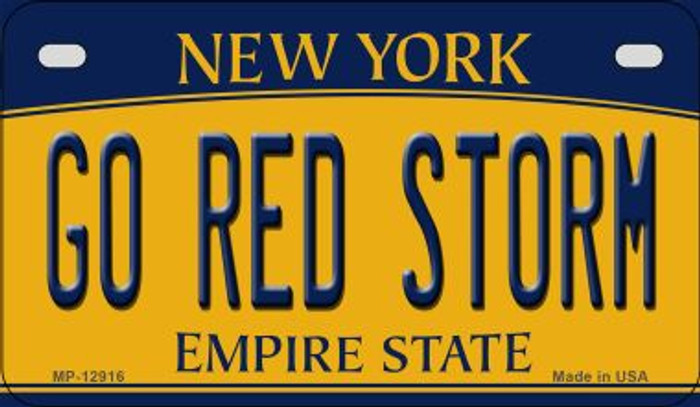 Go Red Storm Novelty Metal Motorcycle Plate MP-12916