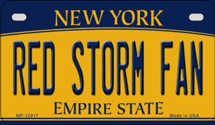 Red Storm Fan Novelty Metal Motorcycle Plate MP-12917