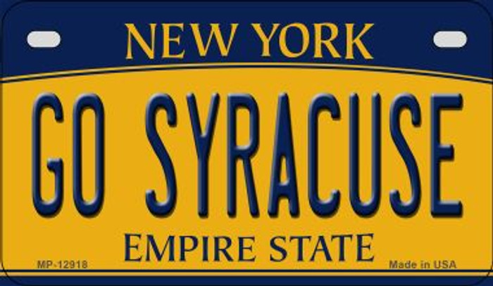 Go Syracuse Novelty Metal Motorcycle Plate MP-12918