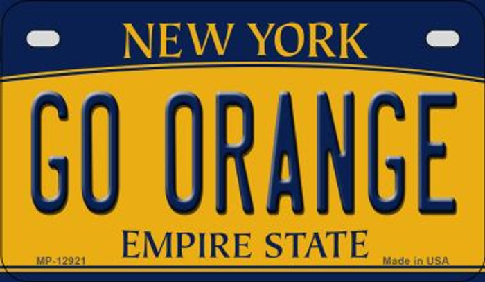 Go Orange Novelty Metal Motorcycle Plate MP-12921