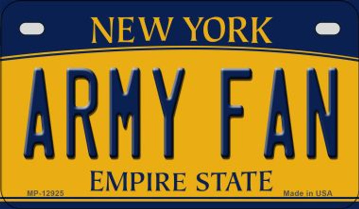 Army Fan Novelty Metal Motorcycle Plate MP-12925